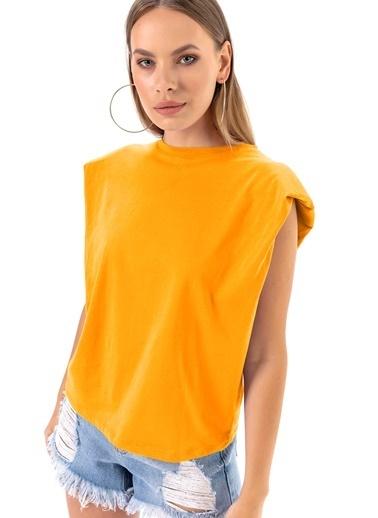 Emjey Fırsat Ürünü-Vatkalı T-Shirt Sarı